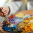 tavola di colori per dipingere